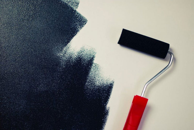 Painting Black Paint Roller