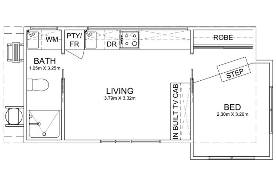 8.1m Long Caravan Park Homes