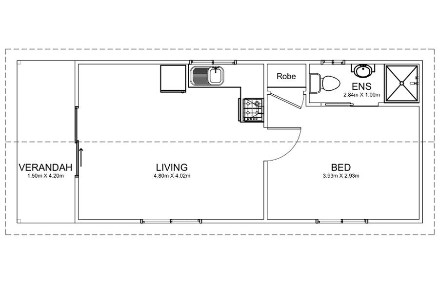 10.5m Long Caravan Park Homes