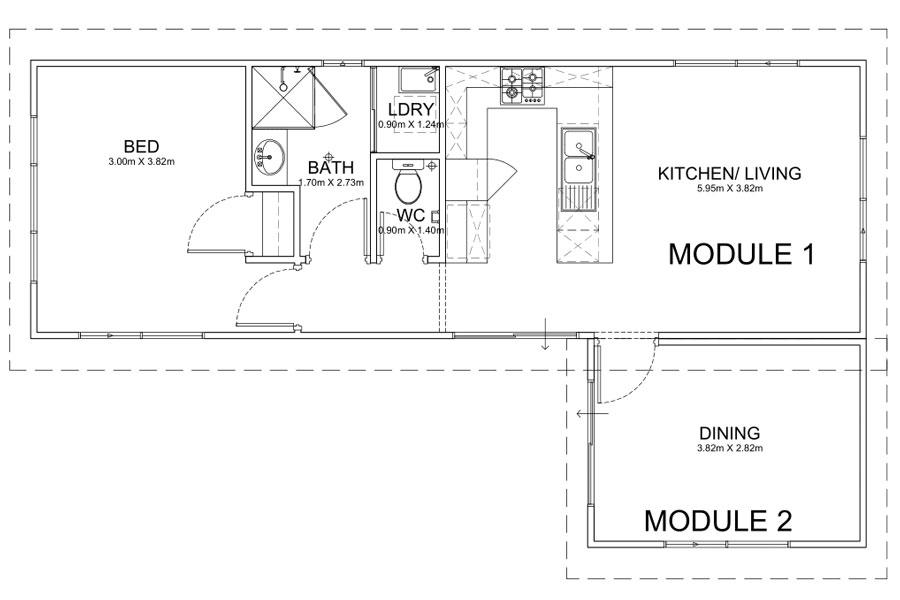 12m Long Caravan Park Homes