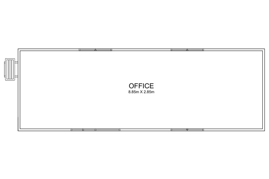9m Long Offices
