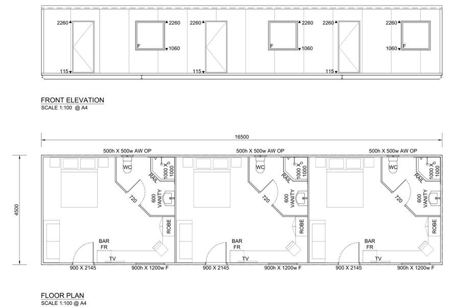 16.5m Long Accommodation