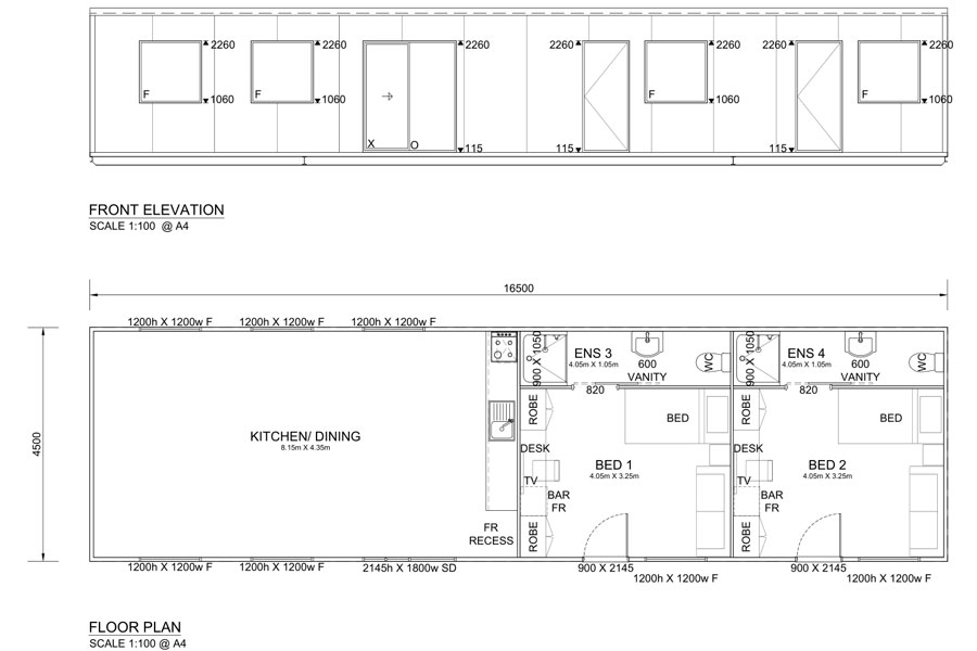 15.6m Long Commercial Kitchens