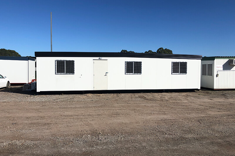 Mining transportable that has been converted to farmers accommodation