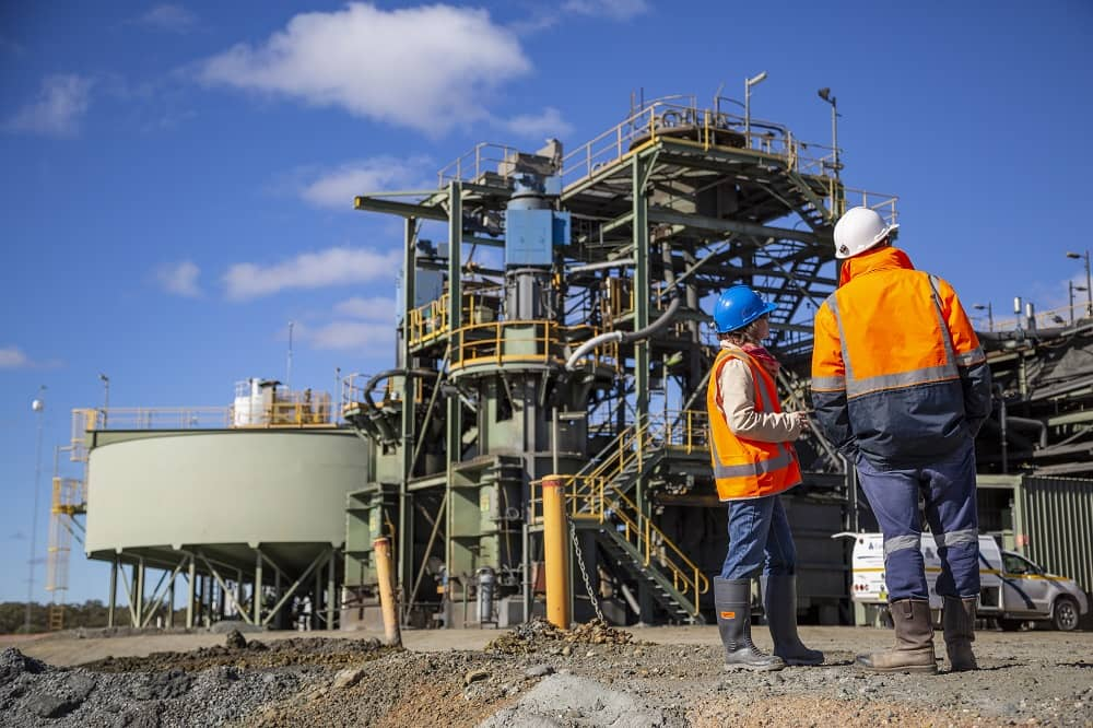 Mining workers in Western Australia