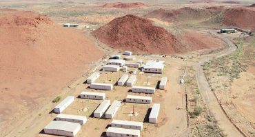 Transportable mining camp.