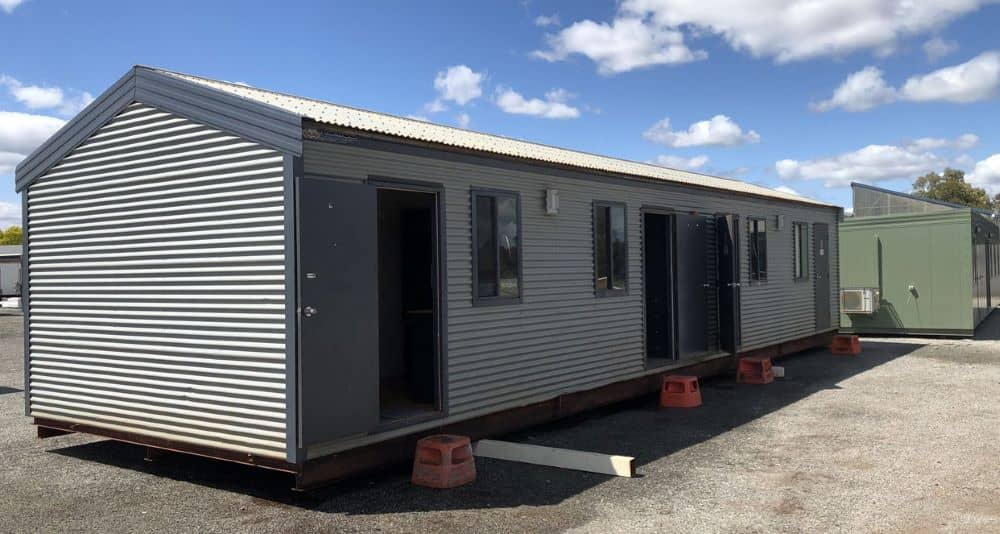 Fox Transportable unit - a suitable choice for quarantine housing.