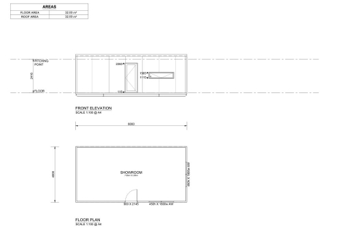 8m Long Classroom and Offices