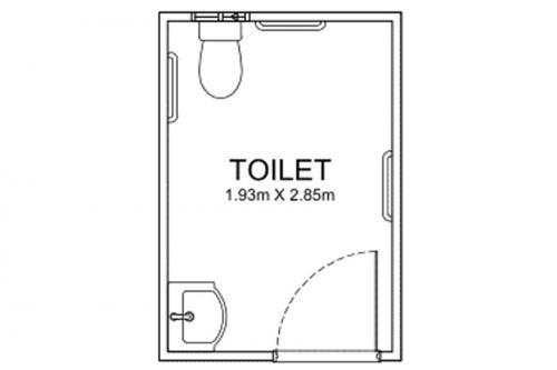 2m Long Disability Bathrooms