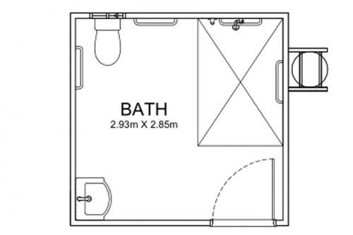 3m Long Disability Bathrooms