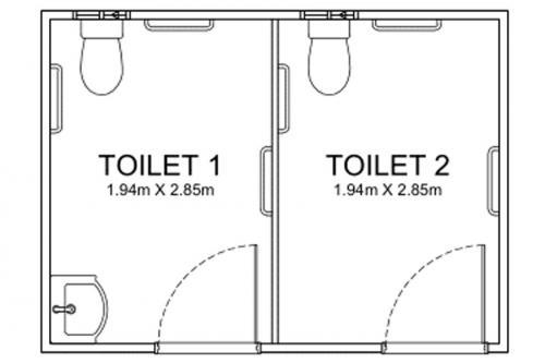 4m Long Disability Bathrooms