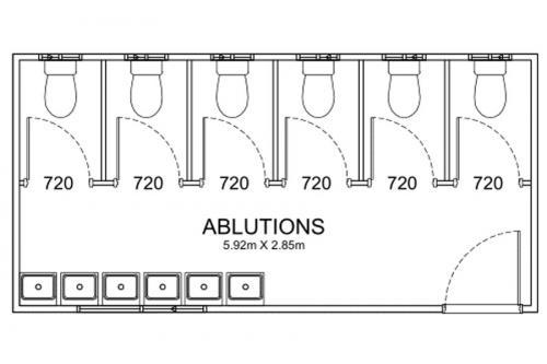 6m Long Disability Bathrooms