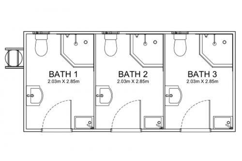 6.25m Long Disability Bathrooms